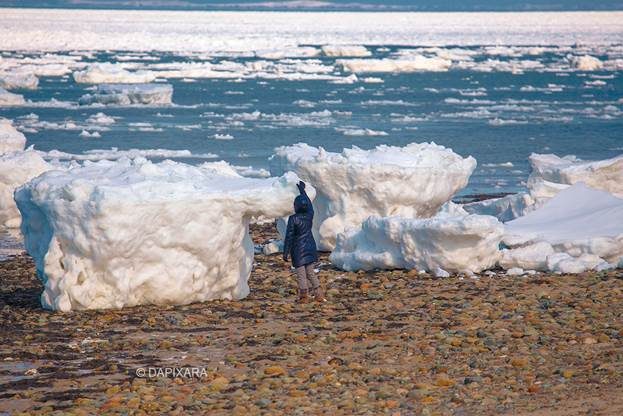 Human Size Icebergs In Cape Cod. Photographer Dapixara. Wellfleet, Mass.