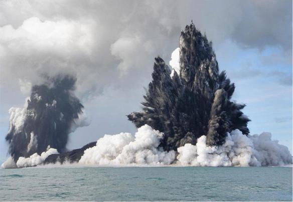 2009 eruption of Hunga Tonga-Hunga Ha'apai. Image credit: Tonga NEMO