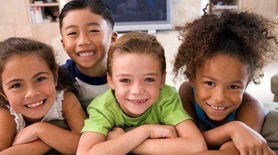 Description: Four-Happy-Children