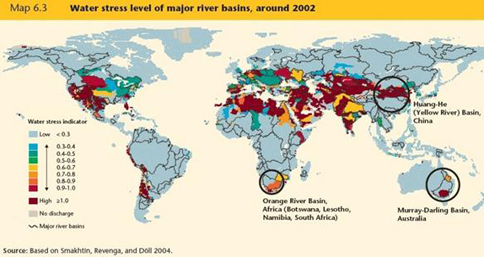 Description: Most of the world's major river basins face high stress levels