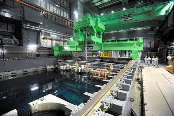 Removal of Fuel Rods from Fukushima Plant