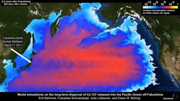 Fukushima-Pacific-Ocean-Radioactive-Cesium-137-Seawater-Impact-Map