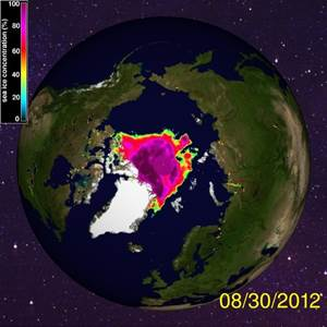 Arctic Sea Ice Extent-30Aug12