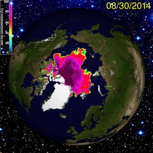 Arctic Sea Ice Extent-30Aug14