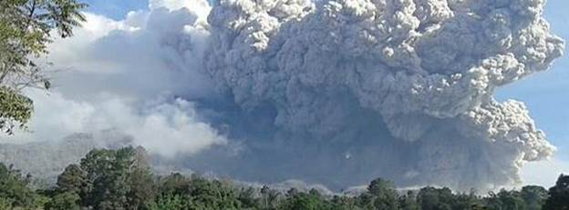 Strong eruption and major pyroclastic flow observed at Sinabung volcano, Indonesia