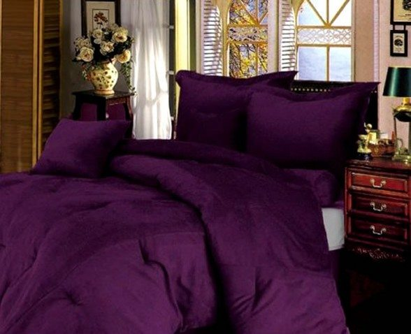 smooth and comfort purple women beds design 588x478
