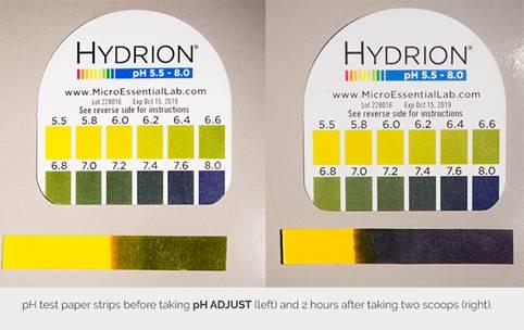 hydrion litmus paper ph Adjust