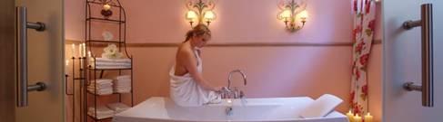 Transdermal magnesium bath on a bathtub