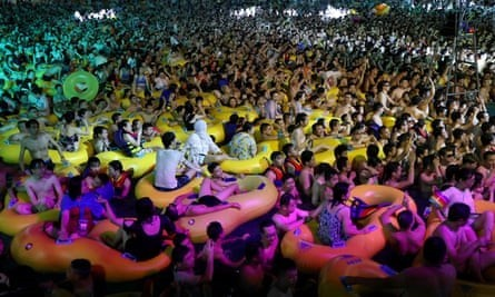The pool party in Wuhan on 15 August drew criticism in some foreign press, something China's state media has called 'sour grapes'.