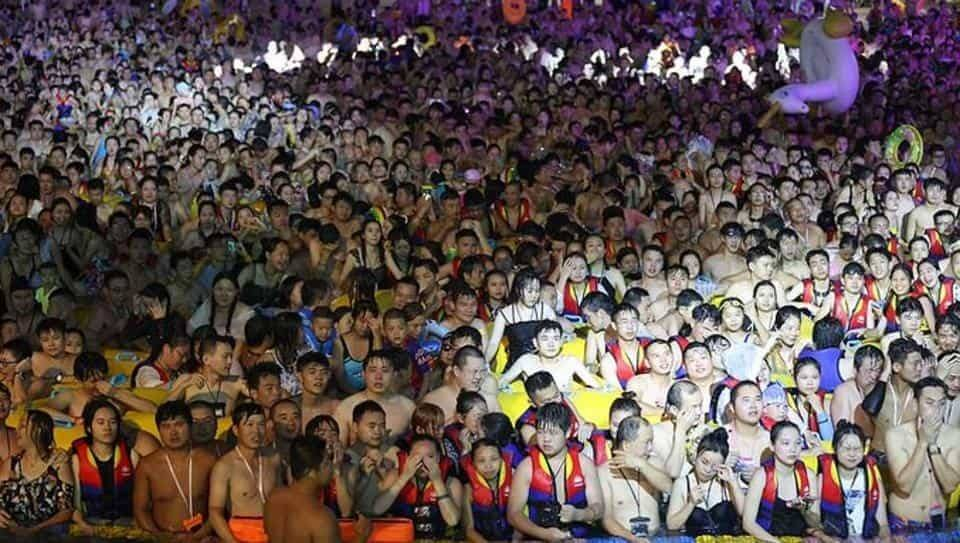 Thousands of people attended an outdoor rave in a water park in Wuhan, China, over the weekend, eight months after Chinese virus was first detected in the city.