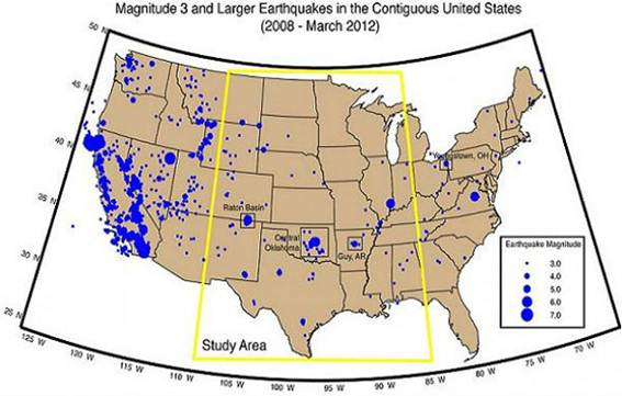 Description: Earthquakes in US